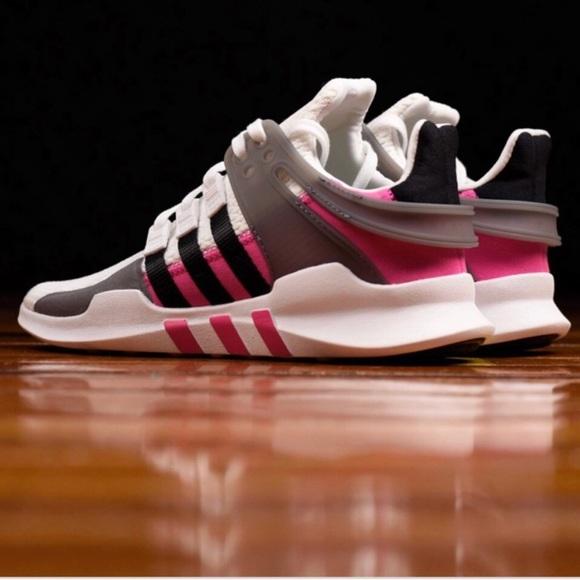 Adidas zapatos NEW EQT ADV J Pink N blanco sz 8  mujer poshmark